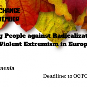 """CALL OF PARTICIPANTS FOR YOUTH EXCHANGE """"Young People against Radicalization and Violent Extremism in Europe"""""""